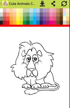 Cute animals coloring pages poster