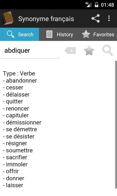Synonyme français for Android - APK Download