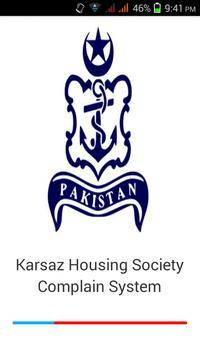 Karsaz Society Complain System poster