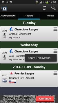 Football on TV Schedule screenshot 2