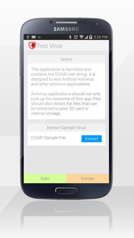 test antivirus app für android