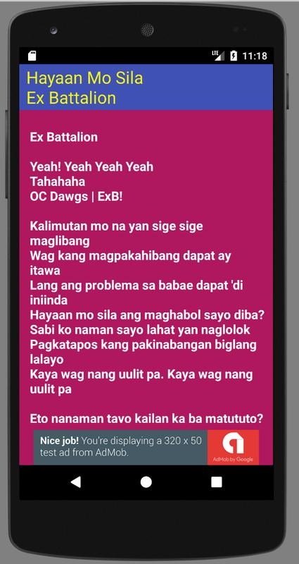 Hayaan Mo Sila Lyrics for Android - APK Download