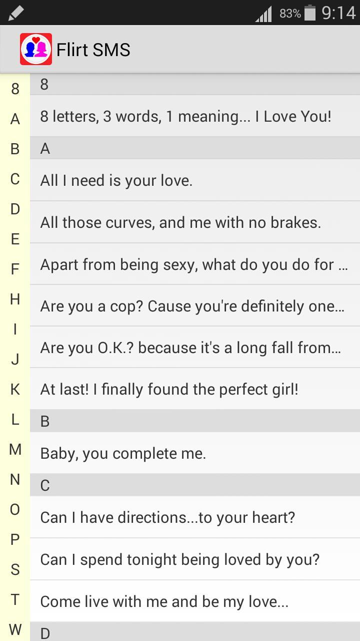 flirten über sms)