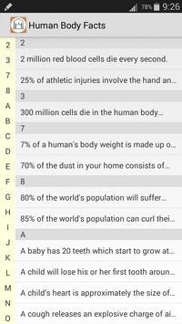 Human Body Facts screenshot 1