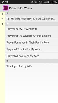Prayers for Wives apk screenshot