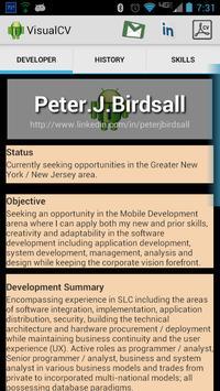 Visual CV apk screenshot