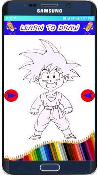 How to Draw DBZ  Super Saiyan The easy Way apk screenshot
