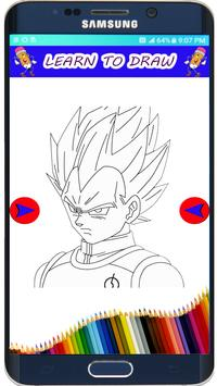 How to Draw DBZ  Super Saiyan The easy Way screenshot 3