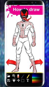 How to Draw Spiderman Book   step by step screenshot 2