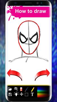 How to Draw Spiderman Book   step by step screenshot 3