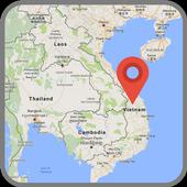Map of Vietnam icon