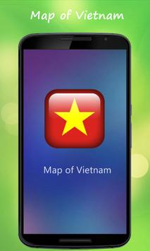 Map of Vietnam poster