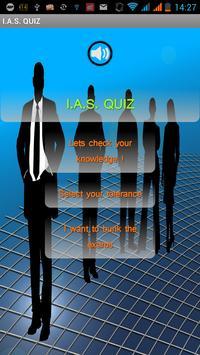 IAS QUIZ 2015 poster