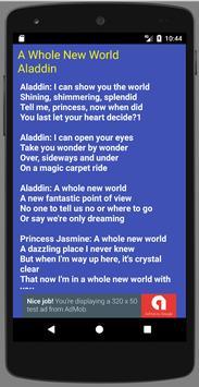 A Whole New World Lyrics poster