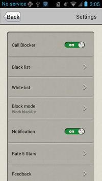 Bloqueador de llamadas captura de pantalla 3