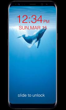 Blue Whale Lock Screen poster