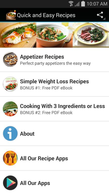 Quick and easy recipes apk download free food drink app for quick and easy recipes apk screenshot forumfinder Choice Image