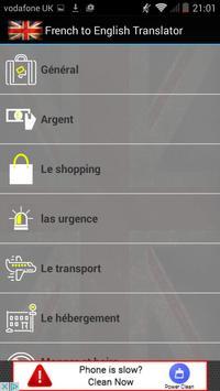 French to English Translator apk screenshot