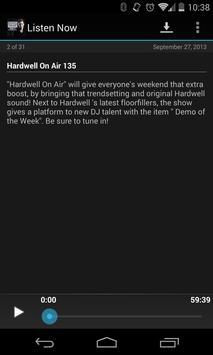 Hardwell On Air Podcast screenshot 2