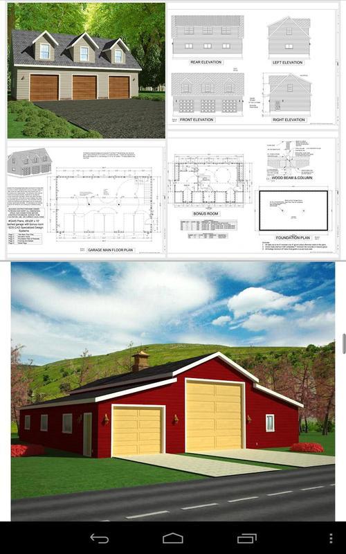 Garage plans with apartments apk download free books for Garage design app