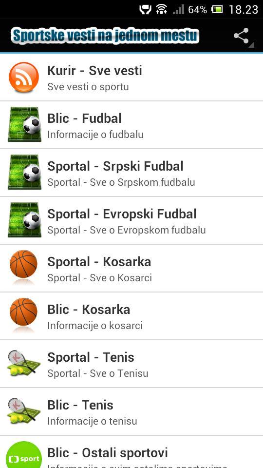 Sportske Vesti For Android Apk Download