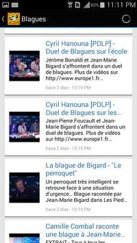 Jokes in French language apk screenshot