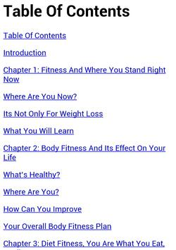 Fitness The Guide screenshot 1