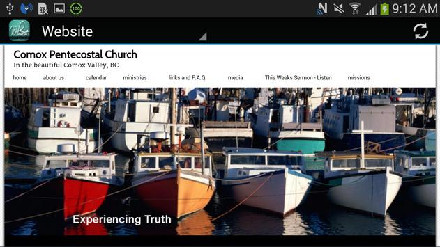 Comox Pentecostal Church screenshot 1