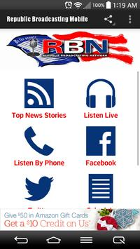 Republic Broadcasting Mobile poster