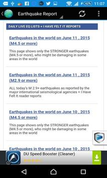 Earthquakes Today apk screenshot