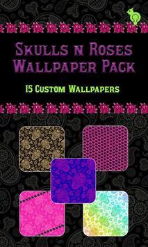 Skulls N Roses Wallpaper Pack poster