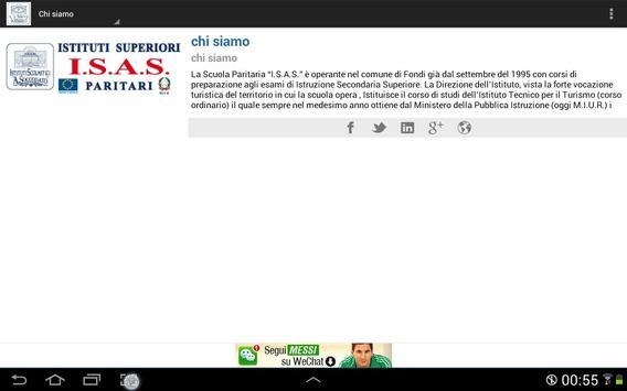 I.S.A.S. Cl@sse 2.0 apk screenshot