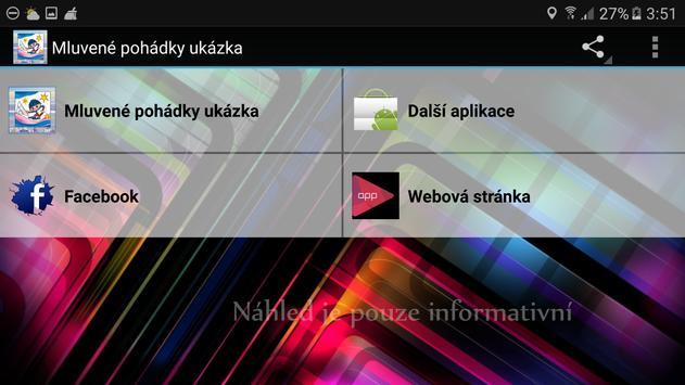 Mluvené pohádky 8 díl apk screenshot