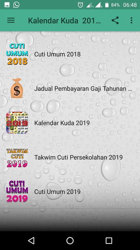 kalendar kuda malaysia 2018 2019 16