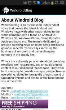WindroidBlog apk screenshot