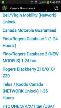 Canada Phone Unlock screenshot 4