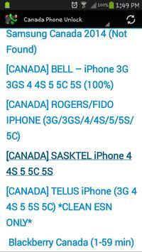 Canada Phone Unlock screenshot 5