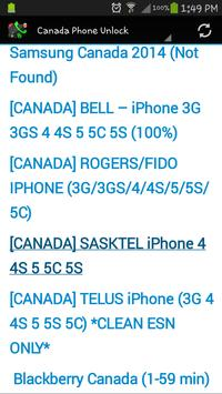 Canada Phone Unlock screenshot 17