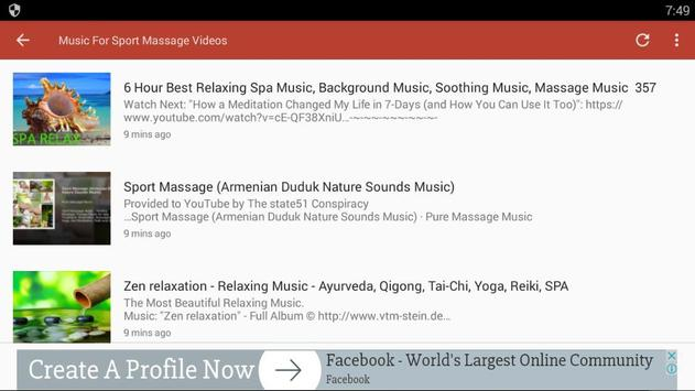 Music For Sport Massage Videos for Android - APK Download