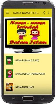 NAMA-NAMA PILIHAN DALAM ISLAM poster