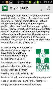 Mental Health First Aid screenshot 1
