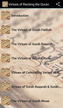Virtues of reciting the Quran poster