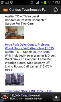 Condos Townhouses For Rent USA poster