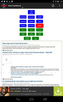 News Dashboard for RSS Feeds poster