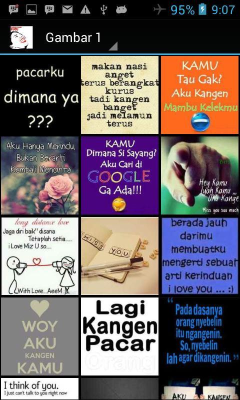 Gambar Kata Kangen Lucu For Android Apk Download