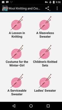 Wool Knitting & Crochet Guide poster
