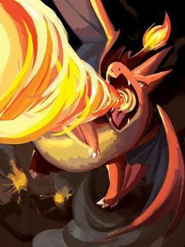 Charizard Fire Poke Wallpaper screenshot 2