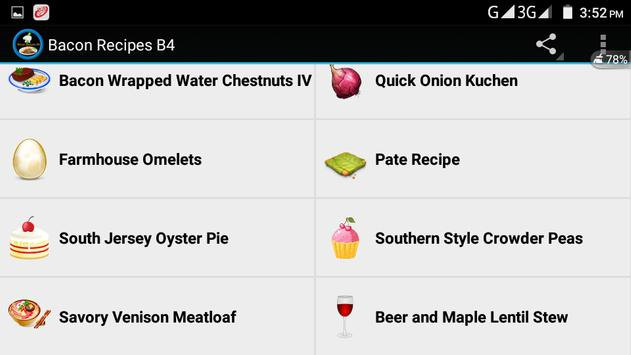 Bacon Recipes B4 screenshot 5