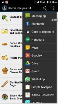 Bacon Recipes B4 screenshot 2