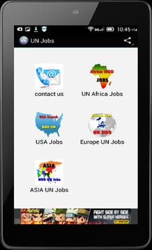 UN Jobs Search apk screenshot